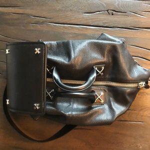 NEW Alexander Wang leather weekender bag